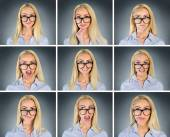 Multiple woman expression — Stock Photo