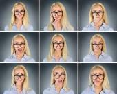 Birden fazla kadın ifade — Stok fotoğraf