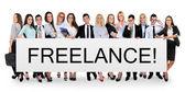 Freelance word on banner — Stock Photo