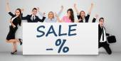 Sale word on banner — Stock Photo