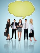 Young business team — Stock Photo