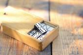 Wooden dominoes set  — Stock Photo