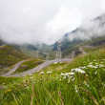 Transfagarasan mountain road from Romania — Stock Photo #77194327