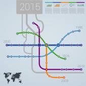 Infographics subway construction data — Stock Vector