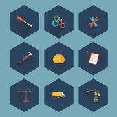 Construction and real estate icon set, vector — Stock Vector