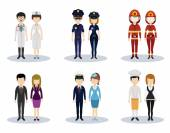 Male and female professional character vector set — Stock Vector