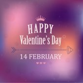 Valentines Day poster.Typography. Vector — Vector de stock