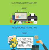 Marketing and management. Research marketing. — Stok Vektör