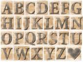 Alphabet en bois — Photo