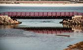 Maroon bridge — Stock Photo