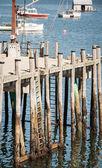Wooden wharf — Stock Photo