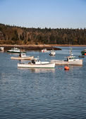 Fishing boats maine — Stock Photo
