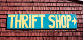 Thrift shop sign — Stock Photo