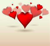 Glossy Valentine love hearts for all holiday seasons. — Stock Vector