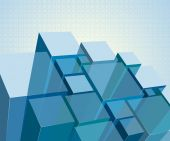 Abstrakt transparent moduler — Stockvektor