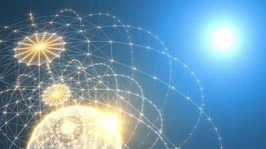 Abstraktní technologie a inženýrství pozadí — Stock video