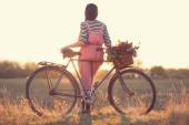 Stylish biker — Stock fotografie