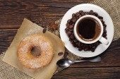 Coffee with donut — Stock Photo