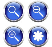 Set of buttons for web, magnifier, asterisk. — Wektor stockowy