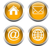 Set of buttons for web, home, email, envelope, globe. — Wektor stockowy