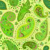 Vintage floral motif ethnic seamless background. — Wektor stockowy