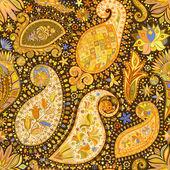 Vintage floral motif ethnic seamless background. — Stockvector