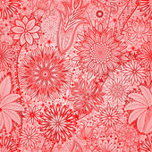 Vintage floral motif ethnic seamless background. — Stock Vector