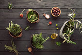 Mediterranean ingredients — Stock Photo