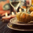 Restaurant autumn place setting — Stock Photo #53797989