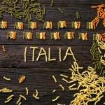 Pasta italian flag — Stock Photo #62203101