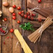 Pasta with ingredients — Stock Photo #62204157