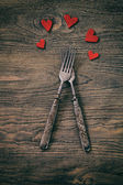 Valentines dinner — Stock Photo