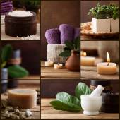 Spa and wellness collage — Stock Photo