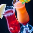 Two colorful cocktails — Stock Photo #77348952