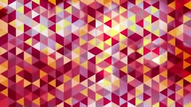 Graphic colorful animation with triangles and encrusted flashes in bokeh - Full HD — Stock Video