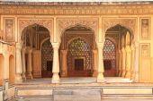 Interior of Hawa Mahal (Wind Palace) in Jaipur, Rajasthan, India — Stock Photo