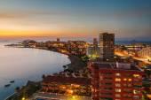La Manga del Mar Menor Skyline at Night, Murcia, Spain — Stock Photo