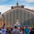 People Walking Besides the Atocha Railway Station in Madrid — Stock Photo #52765457