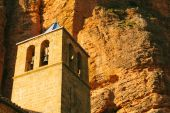 Mallos de Riglos Church in Huesca, Aragon, Spain — Stock Photo