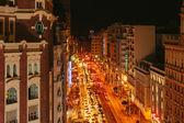 Gran Via, Madrid, Spain — Stock Photo