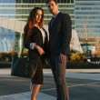 Business Couple on the Street — Stock Photo #71269807