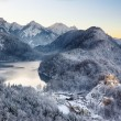 Hohenschwangau Castle at wintertime, Alps, Germany — Photo #61728089