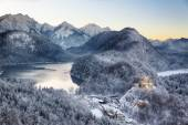Hohenschwangau Castle at wintertime, Alps, Germany — Stock Photo
