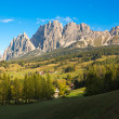 Mountain Panorama in Dolomites, Cortina d'Ampezzo, Italy — Stock Photo #63045573