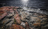 Rock formations at Georgian Bay — Stock Photo