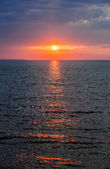Sunset over Atlantic ocean — Stock Photo