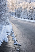 Winter road after ice storm — Stock Photo