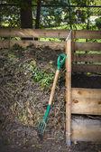 Backyard compost bins — Stock Photo