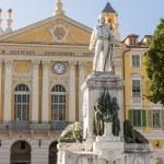 Garibaldi monument in Nice, France — Stock Photo #71673027