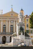 Garibaldi monument in Nice, France — Stock Photo